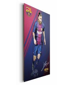Schilderij Lionel Messi FC Barcelona 17/18
