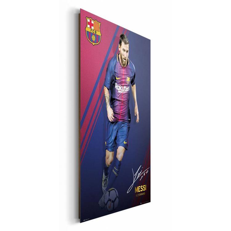 Lionel Messi FC Barcelona 17/18 - Schilderij 60 x 90 cm