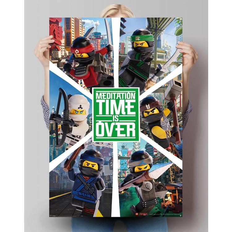 Lego Ninjago 6 ninjas - Poster 61 x 91.5 cm