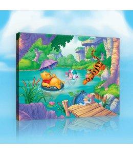 Schilderij Winnie the Pooh - Cast Swimming