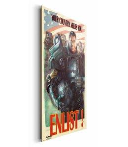 Schilderij Fallout 4 Enlist
