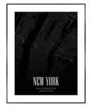Schilderij Kaart Manhattan