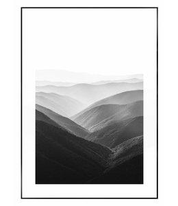 Schilderij Vergezicht over berglandschap