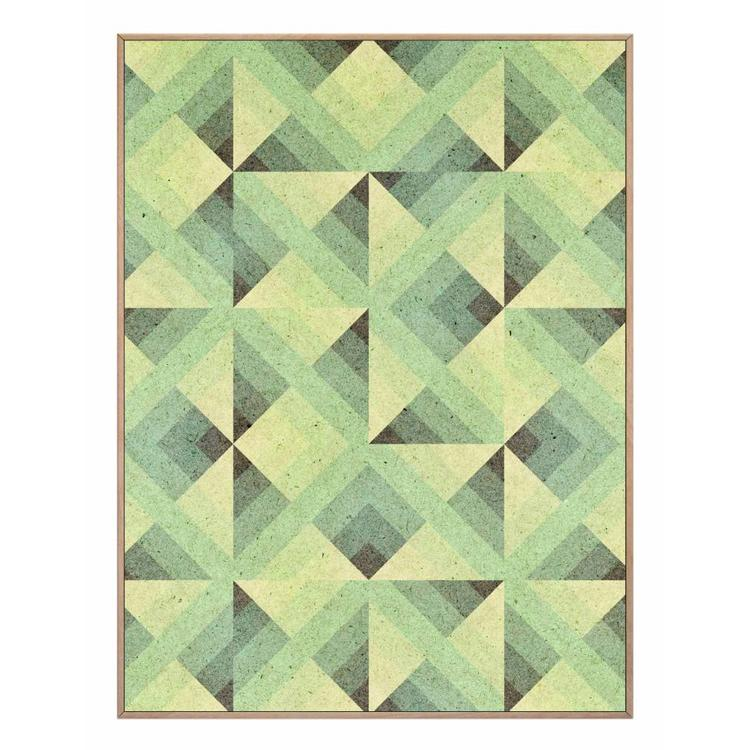 Driehoeken patroon  - Schilderij 30 x 40 cm