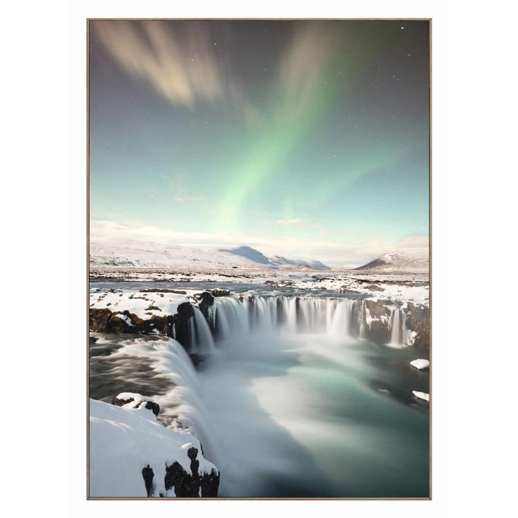 Winters poollicht  - Schilderij 50 x 70 cm