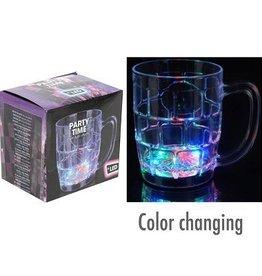Bierglas/pul met LED verlichting set van 3