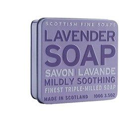 Blik met lavendel zeep