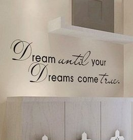 Muurstickers Dream until