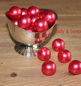 10 badparels rood metallic (kers)