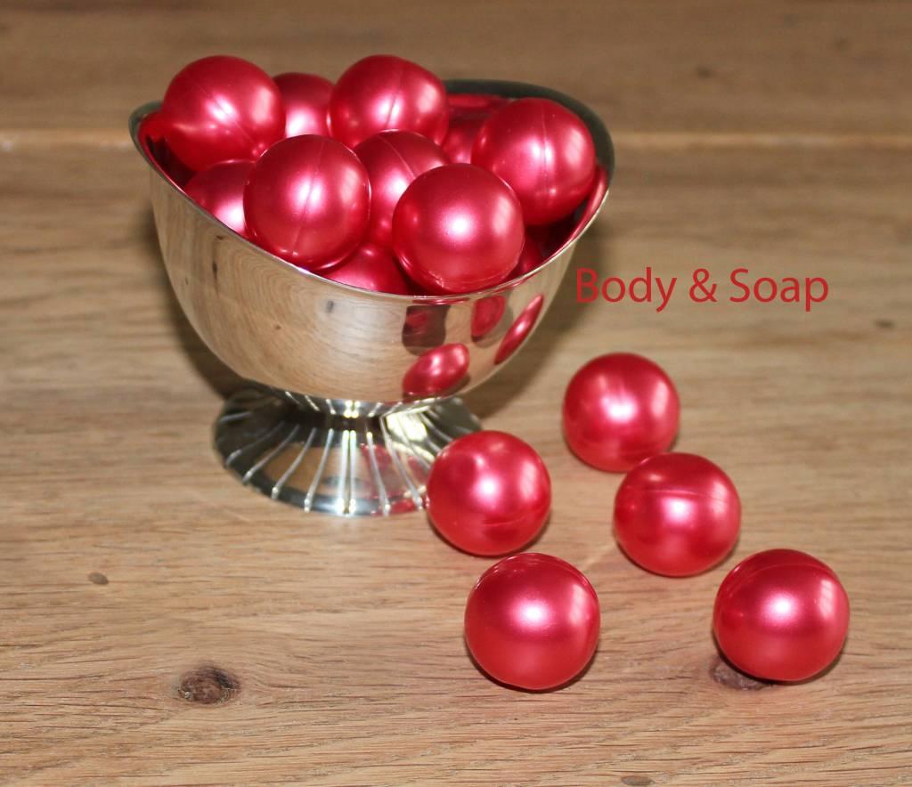 Badparels rood metallic (kers) - Online bestellen
