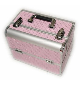 Beauty koffer licht roze
