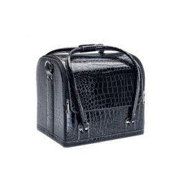 Beauty koffer crocozwart