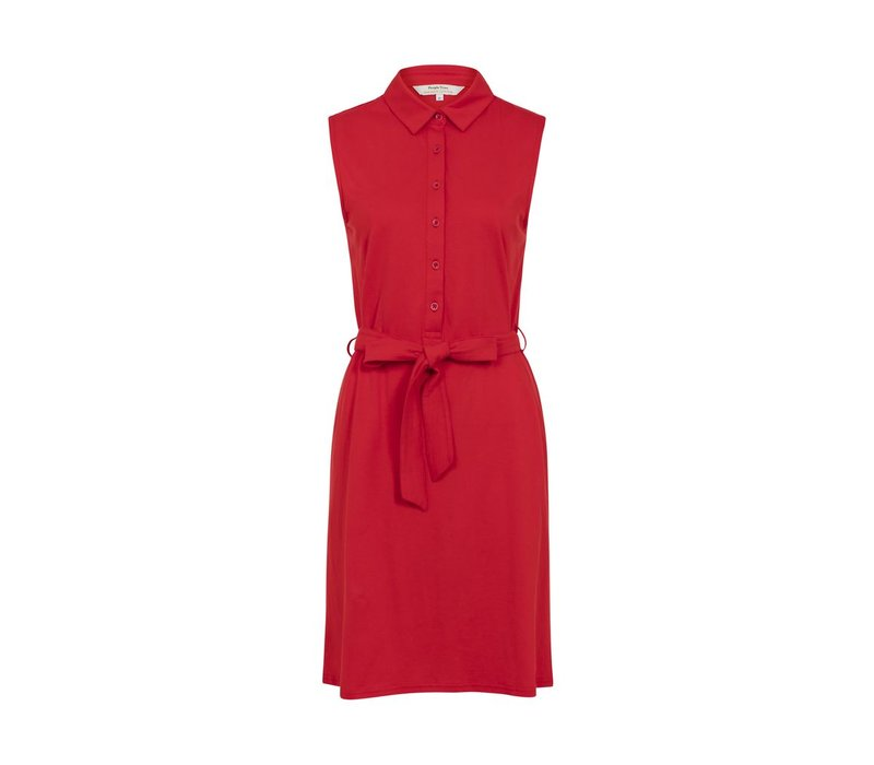 Lenna Shirt Dress Red