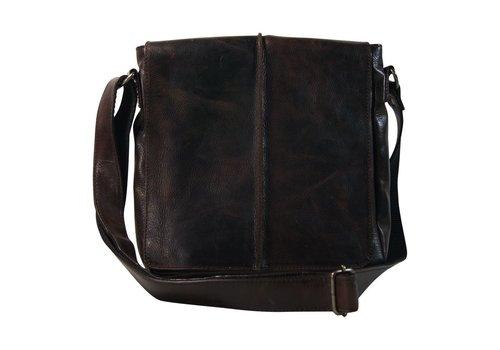Black Colour Vegas messengerbag d. brown