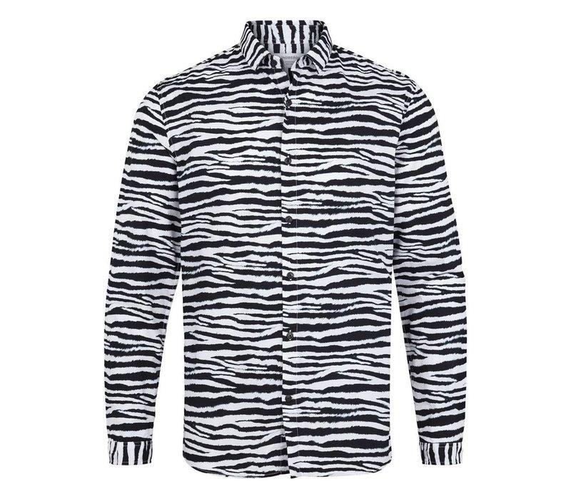 Zebra printed shirt l/s