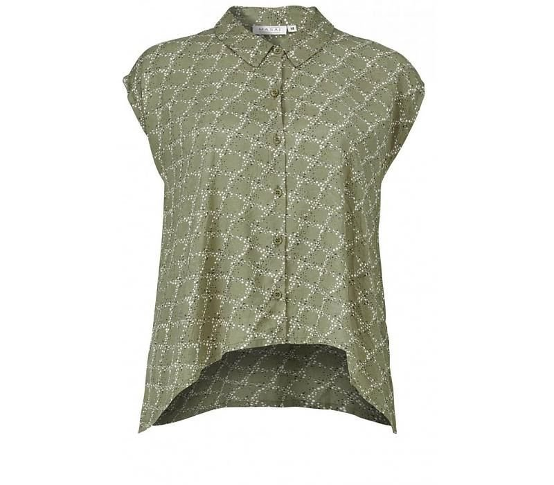Idara blouse A-shape no slv