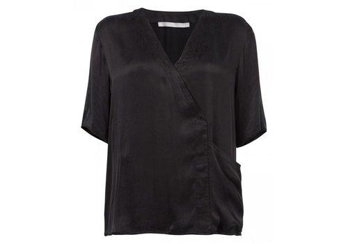 YAYA Cupro blouse big pocket