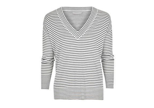 YAYA V-neck striped sweater