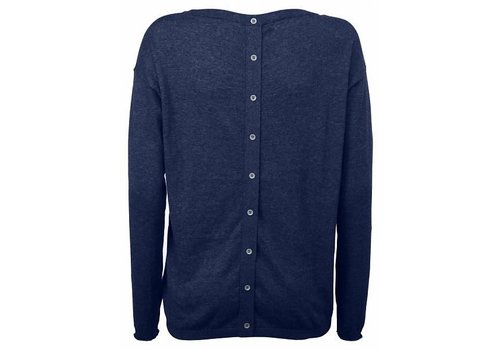 YAYA Basic sweater with cotton buttons