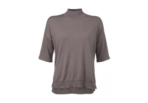 YAYA SHORT SLEEVE COL SWEATER