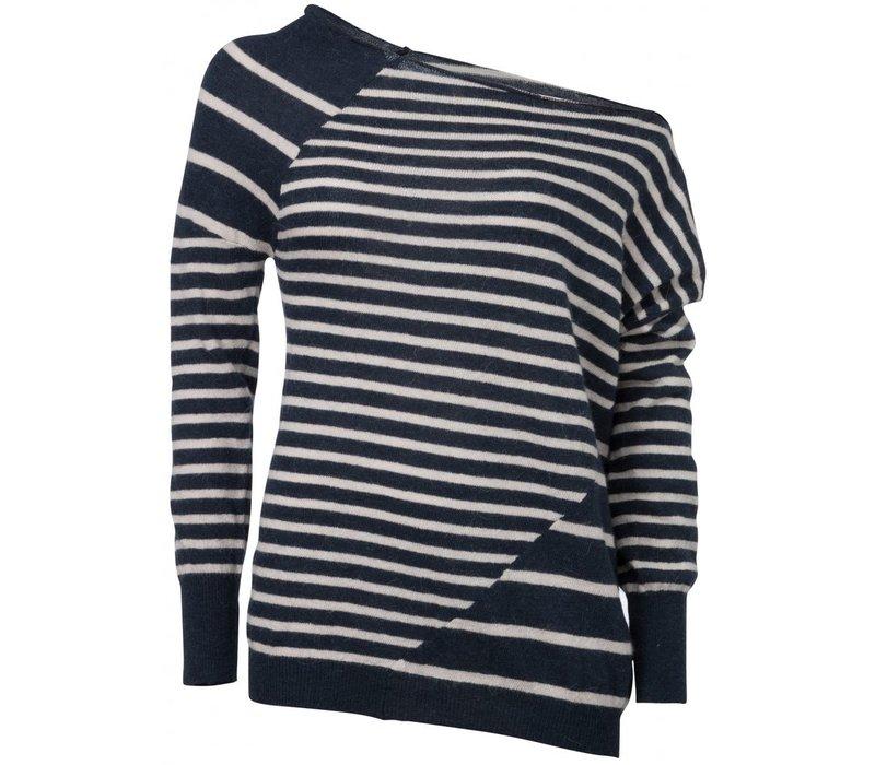 Draped shoulder sweater