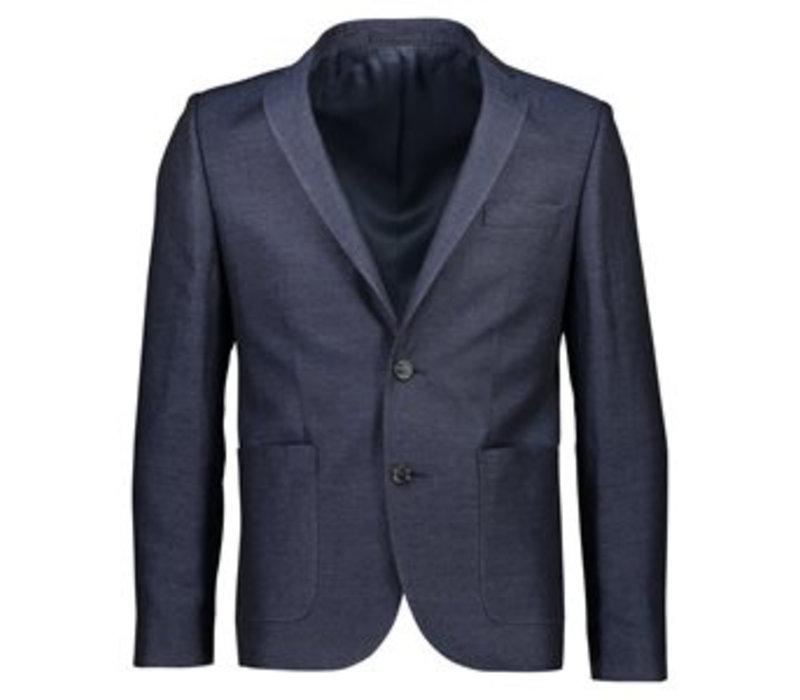 Herringbone weaved blazer