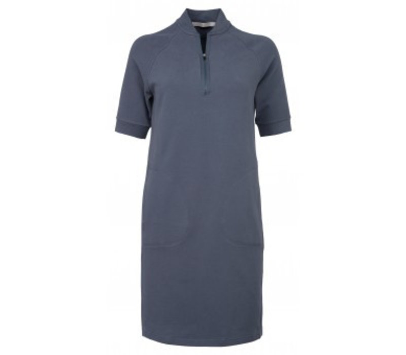 JERSEY SWEAT DRESS WITH ZIP