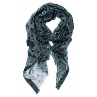 BLURRY DOT PRINT SCARF
