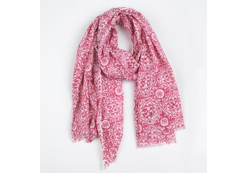 The Moshi Scarf Wera, white/pink