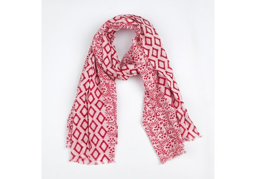 The Moshi Scarf Mika, white/red