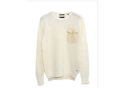 Scotch&Soda Crewneck pull with chestpocket and zippers