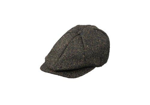 Dstrezzed Hat Heavy herringbone wool-A-ANTHRA