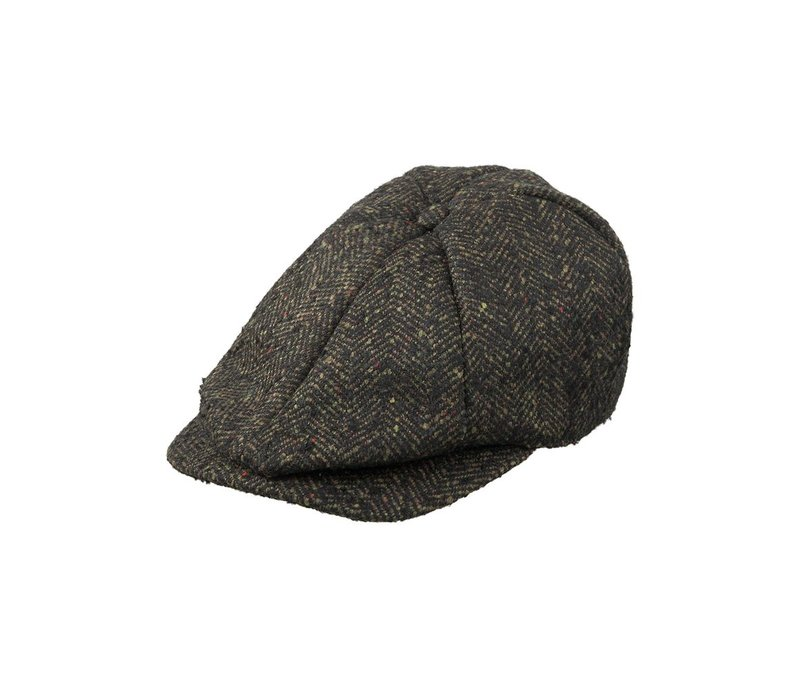 Hat Heavy herringbone wool-A-ANTHRA