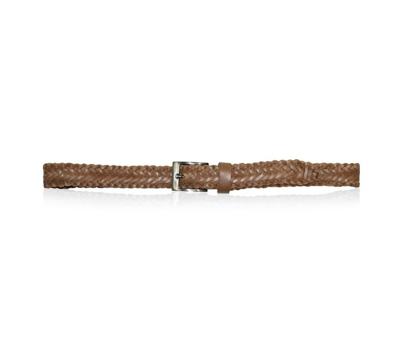 Braid belt 30 mm -tan-95cm