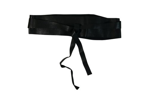 Black Colour RIO tie belt-Black