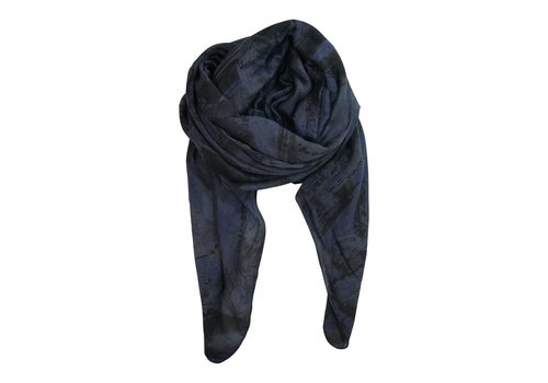 Black Colour MESH scarf-  navy