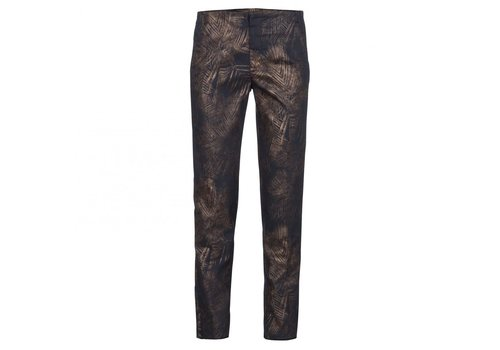 YAYA LEAF PRINTED TROUSERS