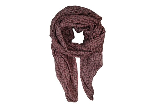 Black Colour FROST scarf - marsala