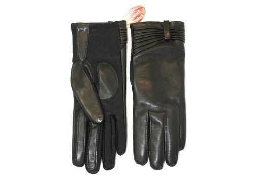 Randers Handskefabrik Btn Lamb 1/2 pique-Woolmix-Black