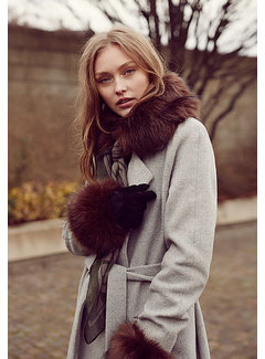 Unmade Faux fur collar for scarf-Brown