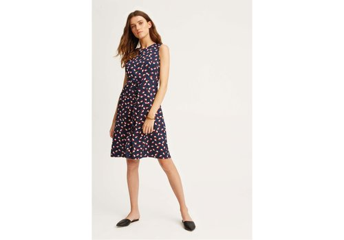 People Tree V&A Seed Print Frill Dress