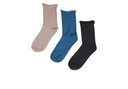 NÜMPH Meryln Glitter 3-pack socks