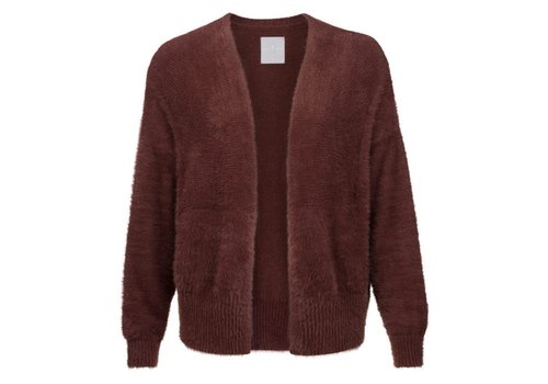 YAYA FLUFFY SHORT OPEN CARDIGAN