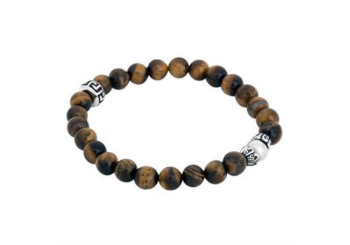 By Billgren Bracelet Brown Silver