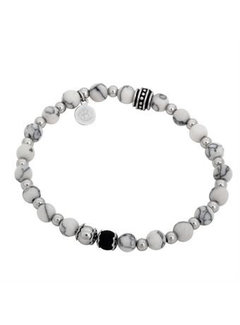 By Billgren Bracelet  White Black Silver
