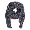 Black Colour RAMONA scarf blue