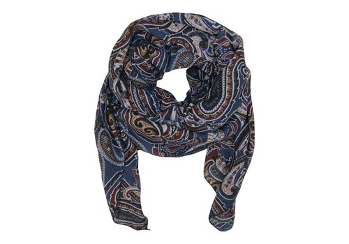 Black Colour RAMONA scarf blue