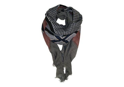 Black Colour ABBY wool deluxe scarf