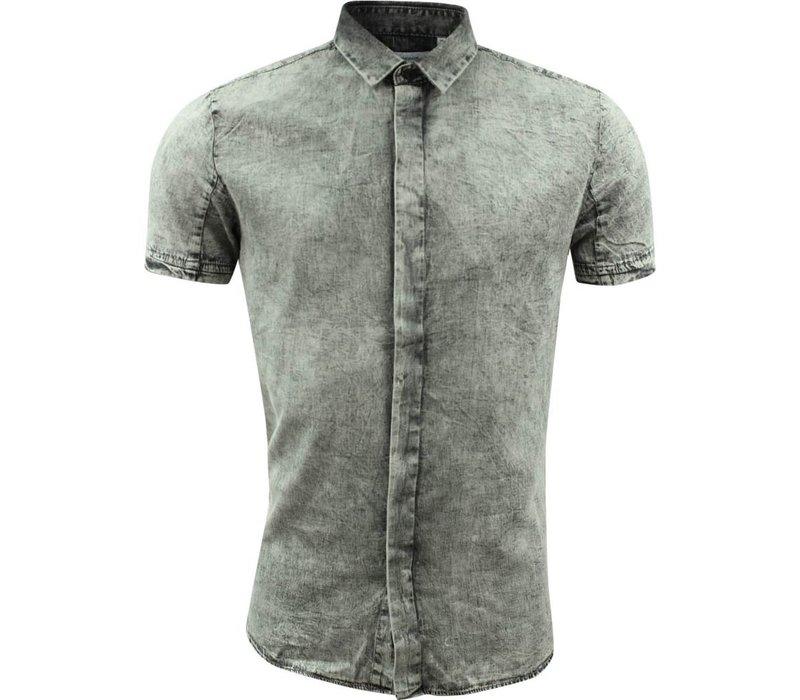 Stonewashed shirt S/S Lindbergh