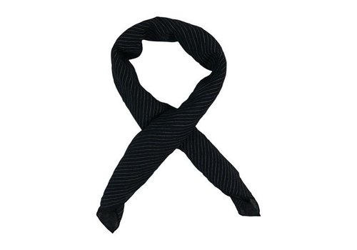 Black Colour PINSTRIPE BANDANA-Black